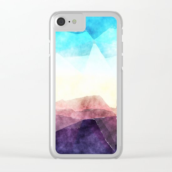 In the sea- abstract watercolor - triangle pattern Clear iPhone Case