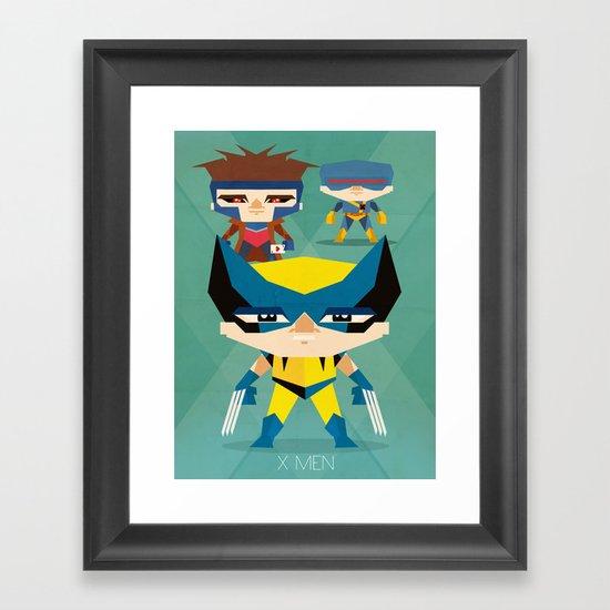 X Men fan art Framed Art Print