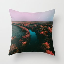 north dakota fall Throw Pillow