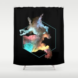Red of Deer Shower Curtain