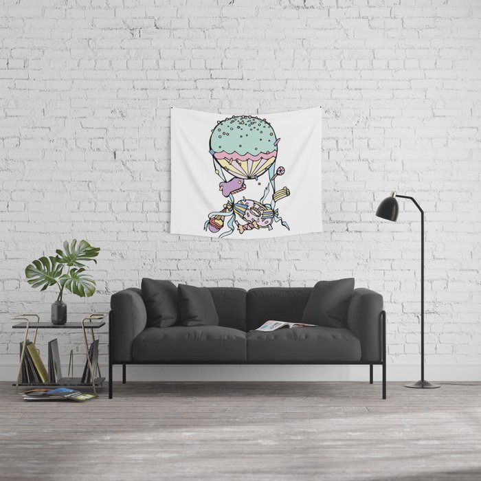 Catching Candies Wall Tapestry