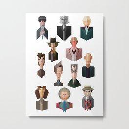 All 12 Doctors Metal Print