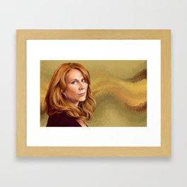 Catherine Tate Framed Art Print