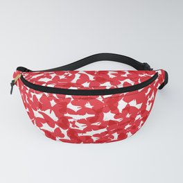 Heart - summer card design, red butterfly on white background Fanny Pack