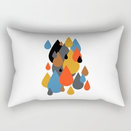 Mid Century Modern Rain Drops on Your Head 1 Rectangular Pillow