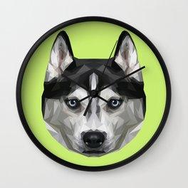 Husky // Green Wall Clock