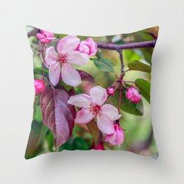 Flowering branch Throw Pillow