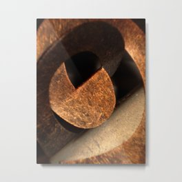 Oz Rust Swirl Metal Print