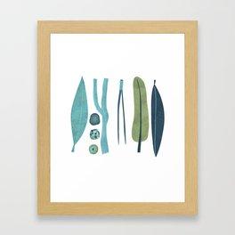 Sticks and Stones Illustration Framed Art Print