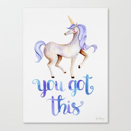 You Got This — Purple Unicorn Canvas Print