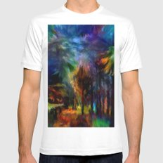 Forêt Nuit Mens Fitted Tee MEDIUM White