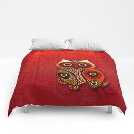 Retro Wood Owl Comforters