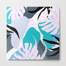 Tropical Abstract Organic Shapes Design Metal Print