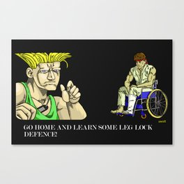 Go Home And Learn Some Leg Lock Defence! Canvas Print