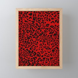 Red Leopard Framed Mini Art Print