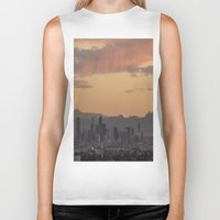 denver Biker Tanks featuring Denver Skyline by Becca Buecher