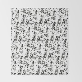 DALMATIAN / pattern pattern Throw Blanket