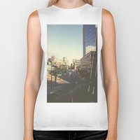 denver Biker Tanks featuring Denver Dusk by danny_label