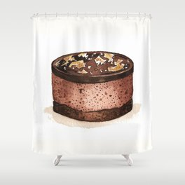 Chocolate Mousse Shower Curtain