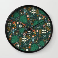 nausicaa Wall Clocks featuring Nausicaa by Carly Watts