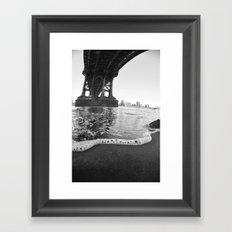 Under The Manhattan Bridge Framed Art Print