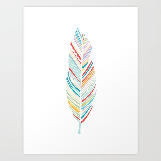 Lone Feather Art Print