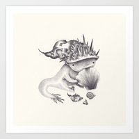 shell Art Prints featuring shell by yohan sacre