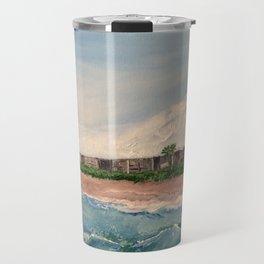 Cocoa Beach  Oil on canvas Travel Mug