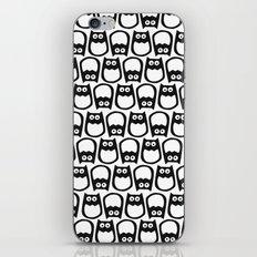 Owl Pattern No. 1 bw iPhone & iPod Skin