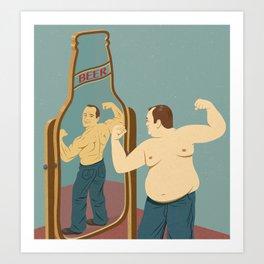 Beer mirror Art Print