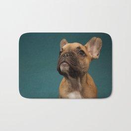 French bulldog portrait Bath Mat
