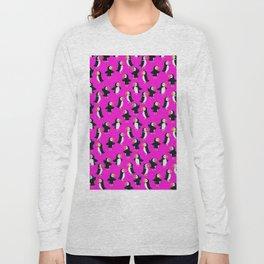 Puffin Purple Pattern Long Sleeve T-shirt