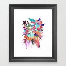 Hana Flower Framed Art Print