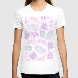 Gamer Girl Pattern T-shirt