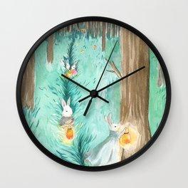 Twinkling Night Wall Clock