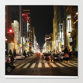 Ginza Crossing Canvas Print