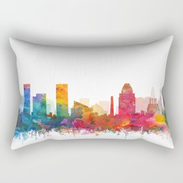 Baltimore Skyline Watercolor by Zouzounio Art Rectangular Pillow