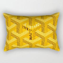 goyard yellow Rectangular Pillow