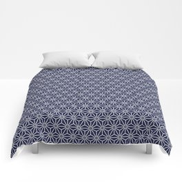 Japanese Yukata Jinbei Asanoha Navy blue Comforters