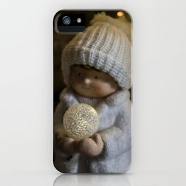 Christmas girl, child iPhone Case