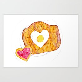 egg and toast Art Print