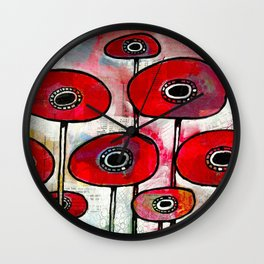 Poppies #4 Wall Clock