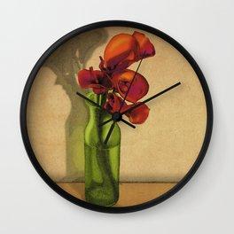 Calla lilies in bloom Wall Clock