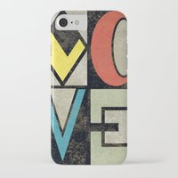 iPhone Cases featuring LOVE II by Metron