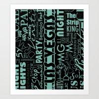 las vegas Art Prints featuring Las Vegas by Chelsea Dianne Lott