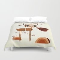 legs Duvet Covers featuring Ol' Tree Legs by Liam Smith