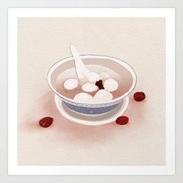 Chinese Food: Tang Yuan Art Print