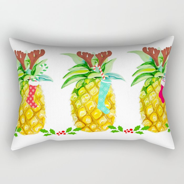holiday pineapples Rectangular Pillow