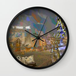 landscape collage #21 Wall Clock