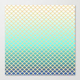 Turquoise squama Canvas Print